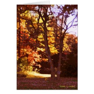 """Autumn Light"" Card"