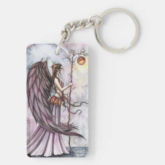 Autumn Light Gothic Fantasy Fairy Art Double-Sided Rectangular Acrylic Keychain