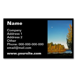 Autumn Light Magnetic Business Card