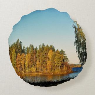 Autumn Light Round Pillow