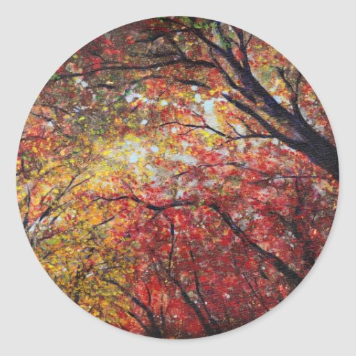 Autumn Light Round Stickers
