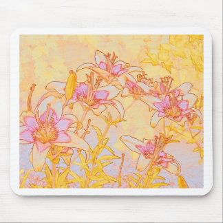 Autumn Lilies - Digital Watercolor Mouse Pad