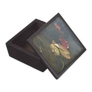Autumn Lily Pads Keepsake Box