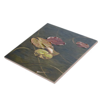 Autumn Lily Pads - Left Facing Tile
