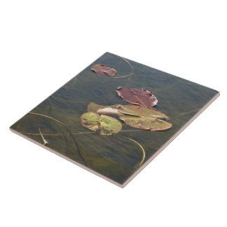 Autumn Lily Pads - Right Facing Tile