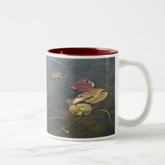 Autumn Lilypads Series Two-Tone Coffee Mug