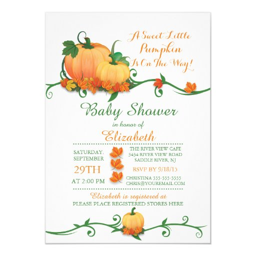 Little Pumpkin Baby Shower Invitations is the best ideas you have to choose for invitation example