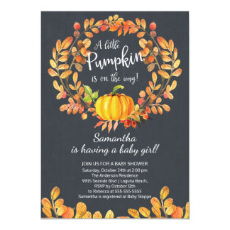 Autumn Little Pumpkin Baby Shower Invitation