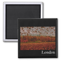 Autumn London Fridge Magnet