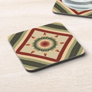 Autumn Lone Star Quilt Design Beverage Coaster