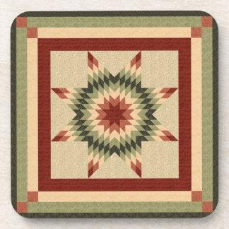 Autumn Lone Star Quilt Design Coaster