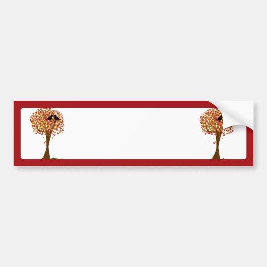 Autumn Love Birds Bumper Sticker