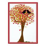 Autumn Love Birds Personalized Invite