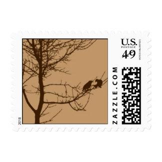 Autumn Love Birds Postage