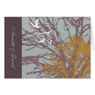 Autumn Love Folded Photo Notecard