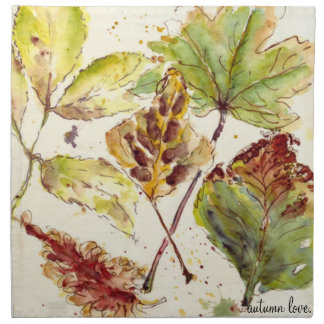 Autumn love Napkin