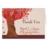 Autumn Love Romantic Oak Tree Thank You Note Stationery Note Card
