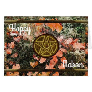 Autumn Mabon Blessings Pentacle Card