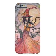 Autumn Magic Witch and Cat Fantasy Art iPhone 6 Case