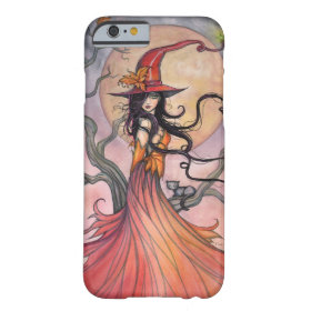 Autumn Magic Witch and Cat Fantasy Art Barely There iPhone 6 Case
