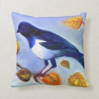 Autumn Magpie 2012 Pillow