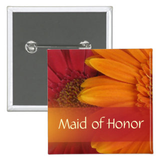 Autumn Maid of Honor Pin / Button
