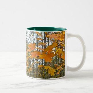 Autumn Maple Foliage Two-Tone Coffee Mug
