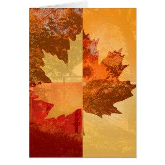 Autumn, Maple Leaf Card