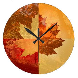 Autumn, Maple Leaf Clock