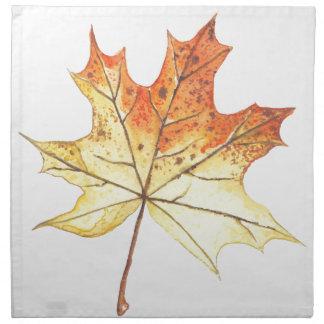 Autumn maple leaf cloth napkin