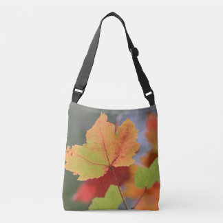 Autumn maple leaf crossbody bag