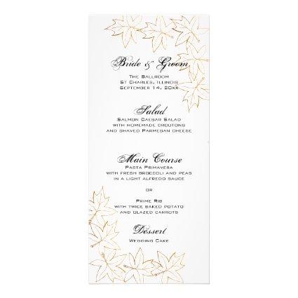 Autumn Maple Leaf Edge Wedding Menu Rack Card Template