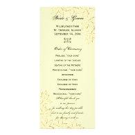 Autumn Maple Leaf Edge Wedding Program Rack Cards