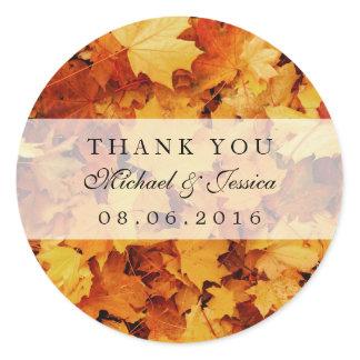 Autumn Maple Leaf Fall Wedding Favor Stickers