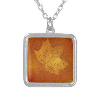 Autumn Maple Leaf in Gold Pendants