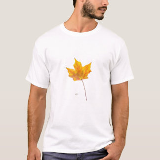 Autumn Maple Leaf in Shades of Gold T-Shirt