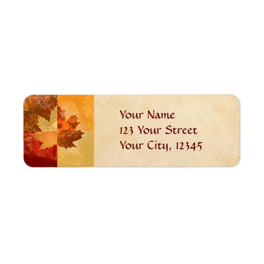 Autumn, Maple Leaf Label