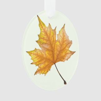 Autumn maple leaf ornament