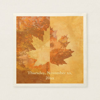 Autumn, Maple Leaf Paper Napkin