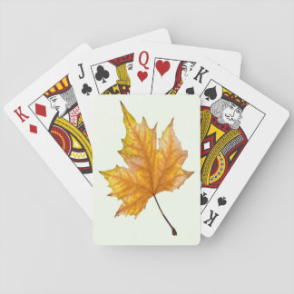 Autumn maple leaf playing cards