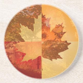 Autumn, Maple Leaf Sandstone Coaster