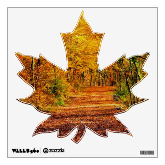 Autumn Maple Leaf Wall Decal
