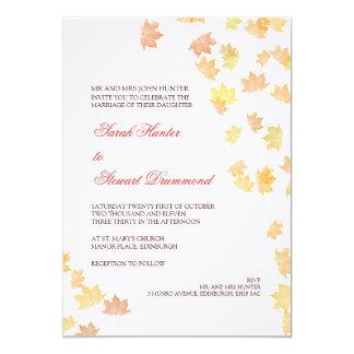Autumn Maple Leaf Wedding Invitation