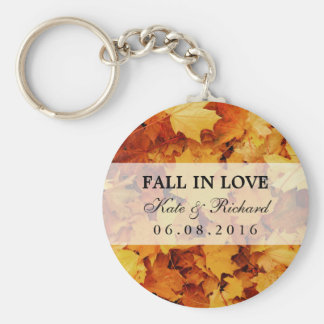 Autumn Maple Leaf Wedding Thank You Gift Keychain