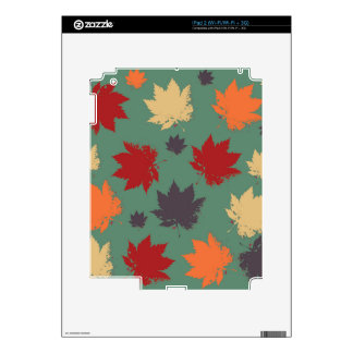 Autumn Maple Leafs Decals For The iPad 2