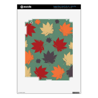 Autumn Maple Leafs Skin For iPad 3