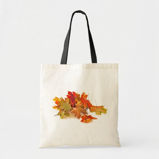 Autumn maple leaves bags