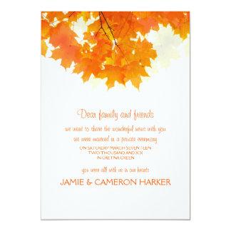 Autumn Maple Leaves Elopement Announcement