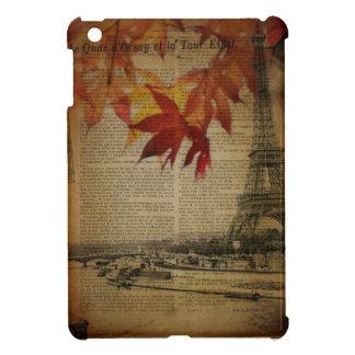 autumn maple leaves fall paris eiffel tower case for the iPad mini