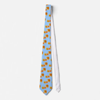 Autumn Maple Leaves Falling Tie